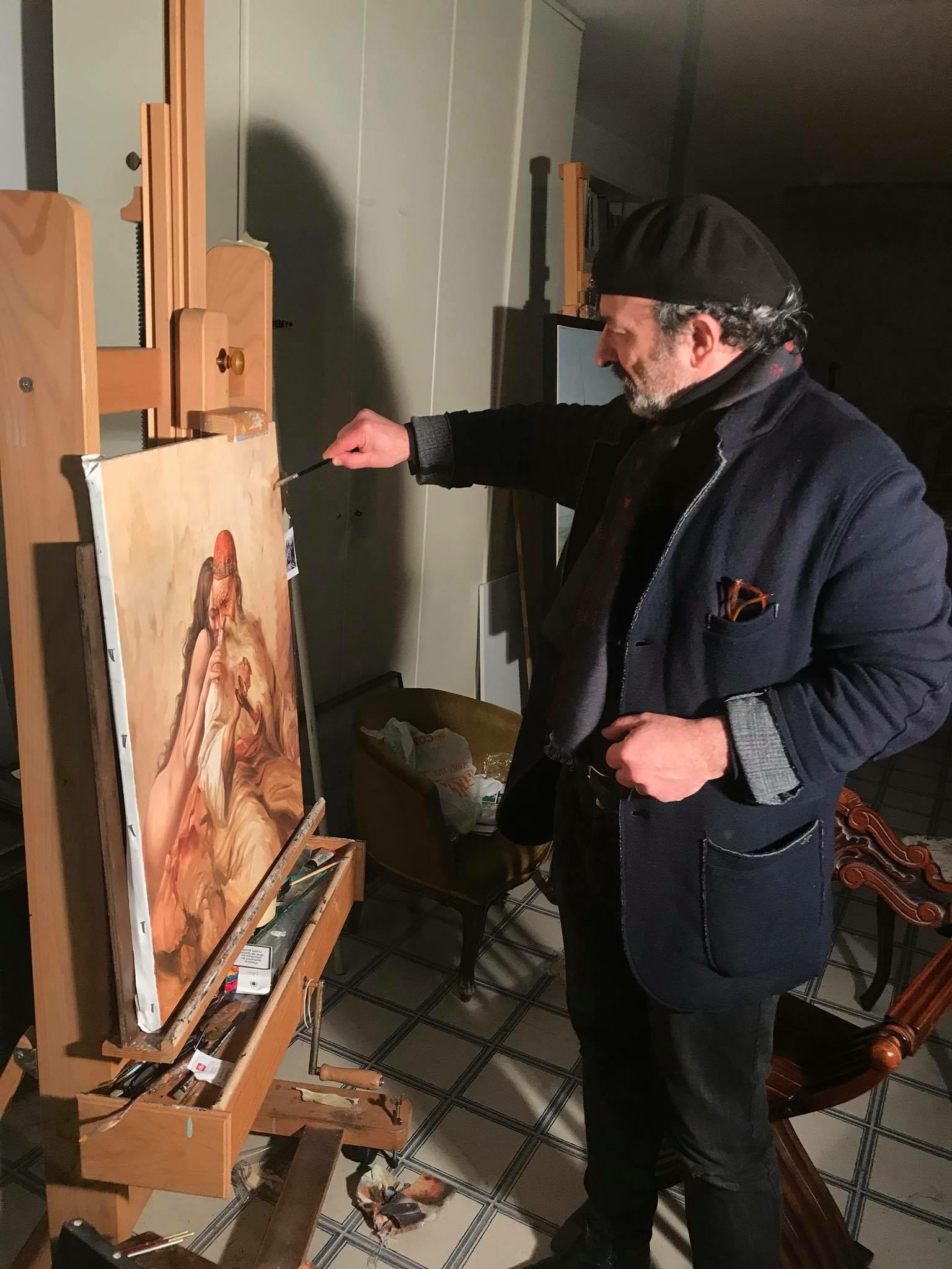 Agim Sulaj in the studio