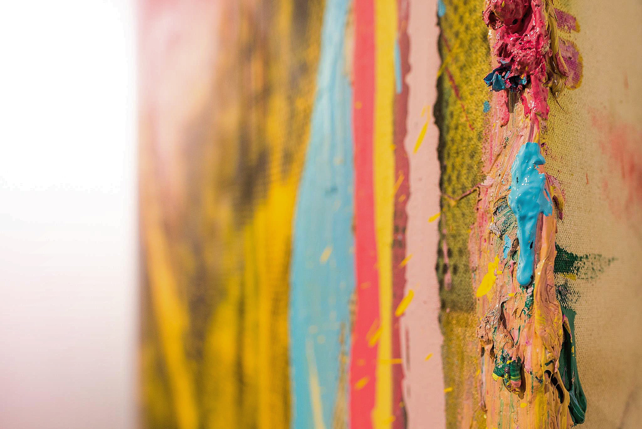 Close up texture of Éoin Francis McCormacks work