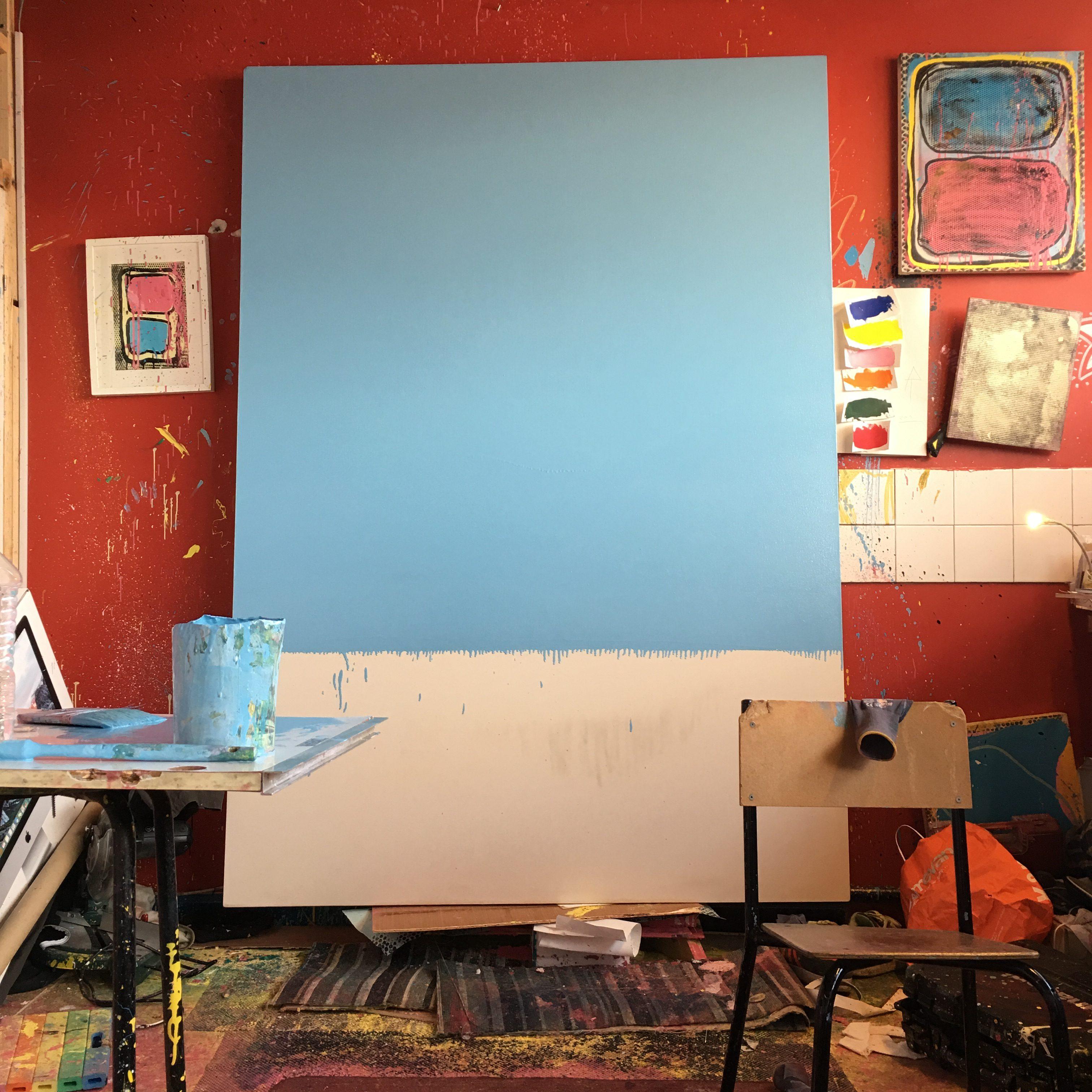 Studio view of work in progress