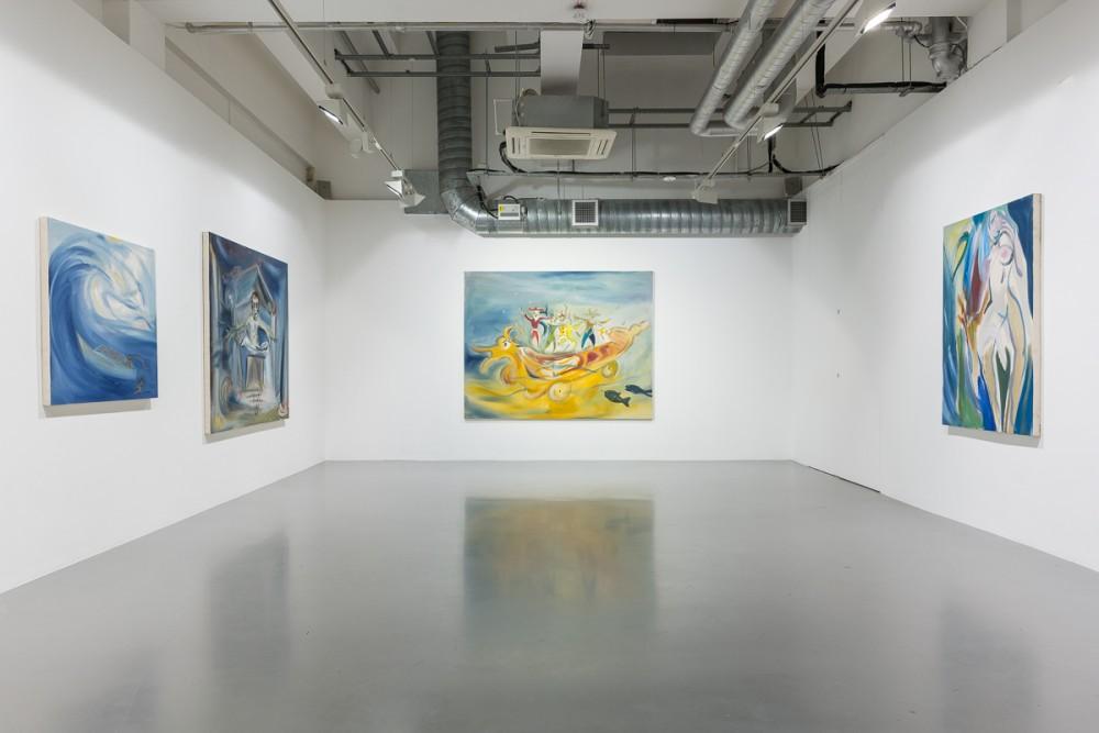 Installation view- Sophie von Hellermann- New Waves, Pilar Corrias, London,
