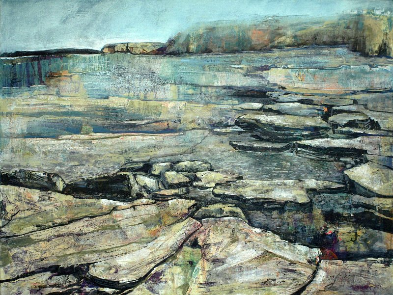 Isabella Maclure's 'East Coast' who is exhibiting at the Feren's Art Gallery Open.