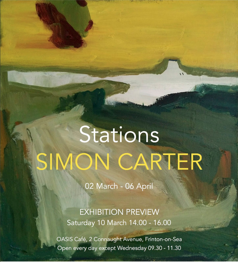 Stations Simon Carter exhibition flyer March exhibitions