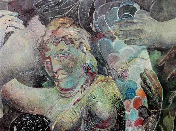 Ana Milenkovic, Bacchus (detail), 2017, (Ana Milenkovic is showing at Night Realms)