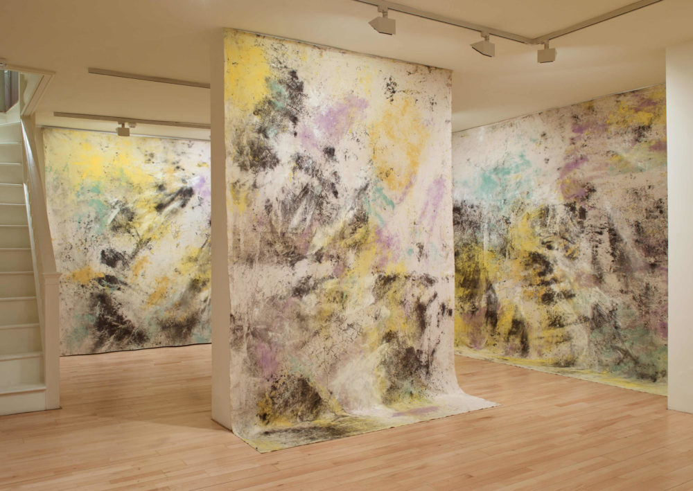 Jessica Warboys, Sea Paintings, Dunwich, 2016 and 2017