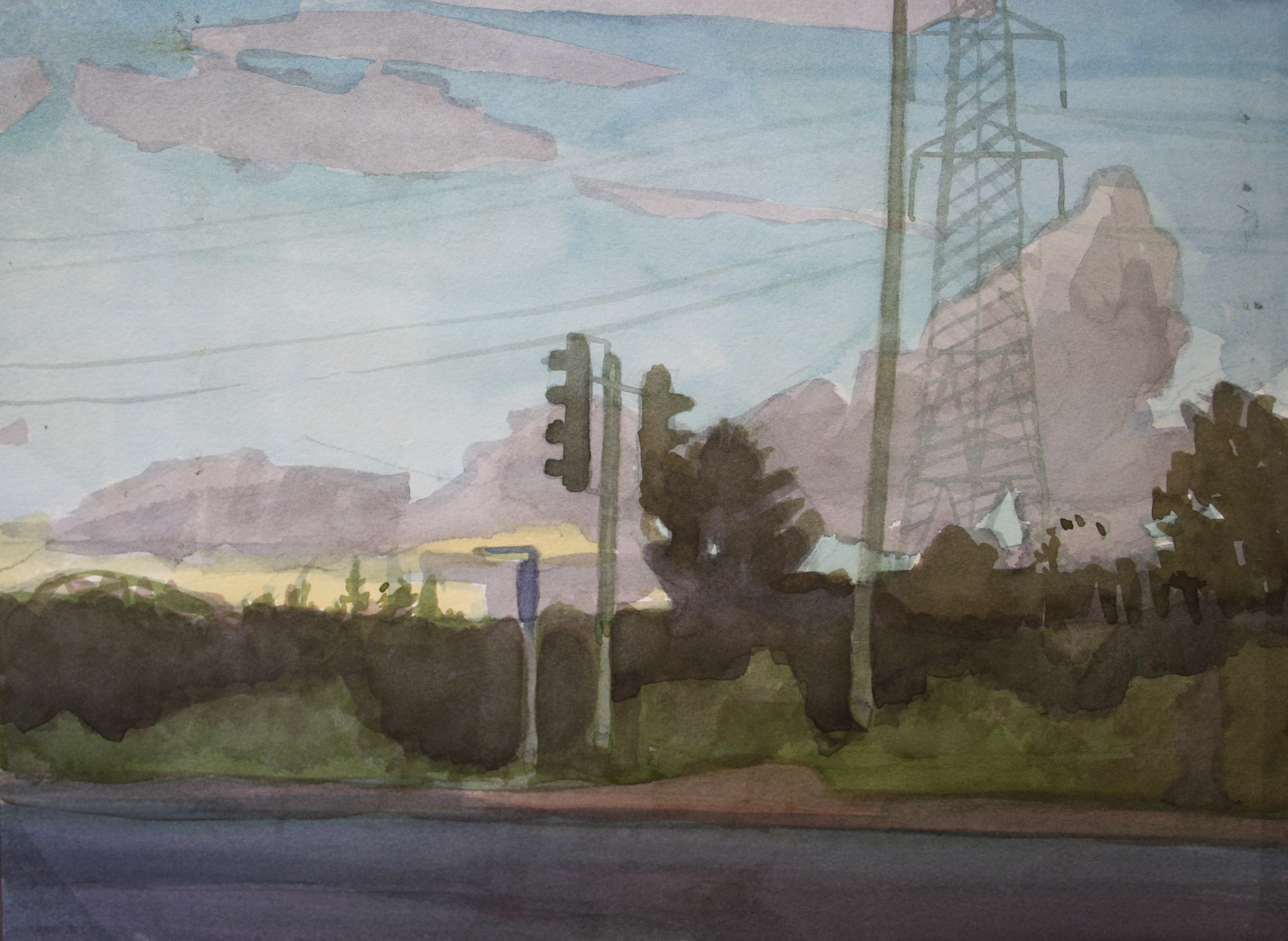 Sebastian Aplin, Rover Way, Watercolour on paper, 26 x 36 cm, 2016