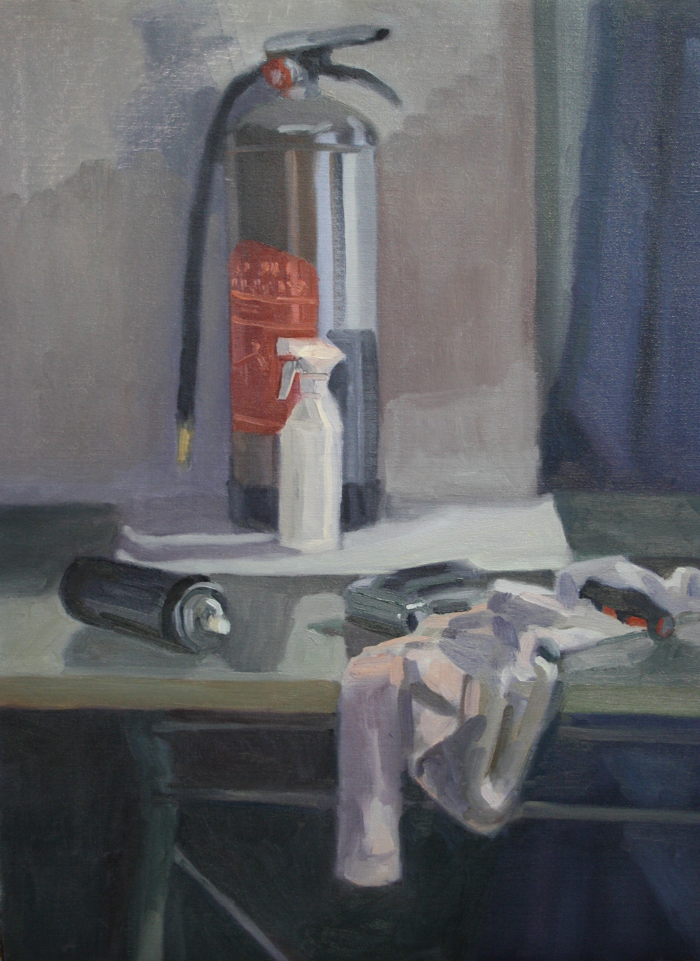 Sebastian Aplin, Studio Interior 1, Oil on canvas, 60 x 44 cm, 2018