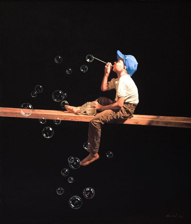 'Soap Bubbles' Agim Sulaj Oil on canvas, 70cm x 80cm