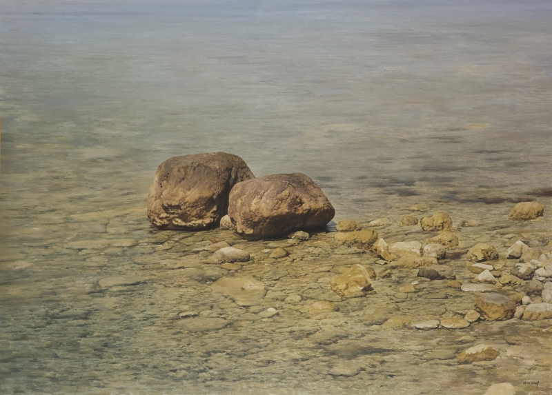 'Transparency' Agim Sulaj Oil on canvas, 150cm x 120cm