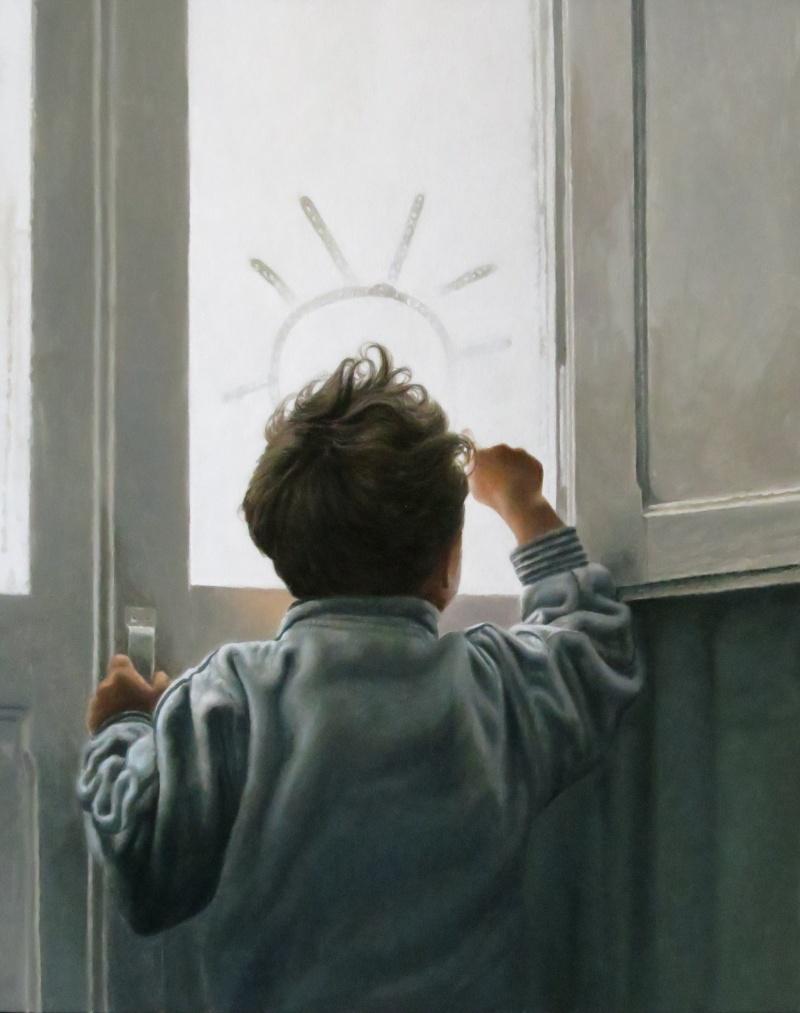 'Winter and Sun' Agim Sulaj Oil on canvas, 35cm x 45cm