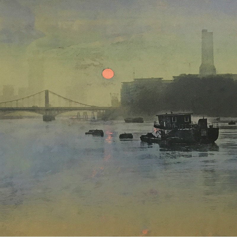 Herme Bellido, Thames Dawn 7 (Detail)
