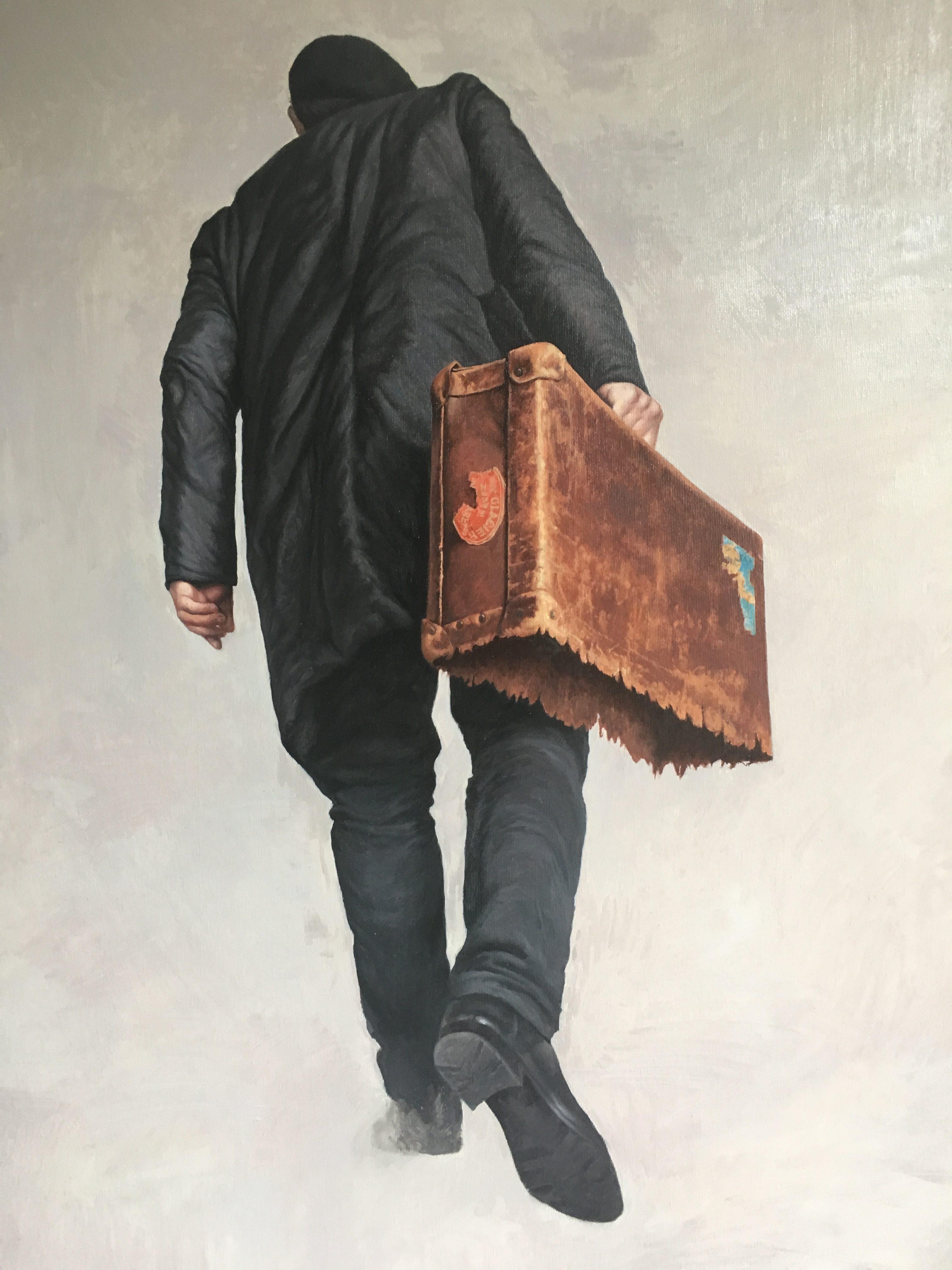 'Immigration' Agim Sulaj oil on canvas, 120cm x 80cm