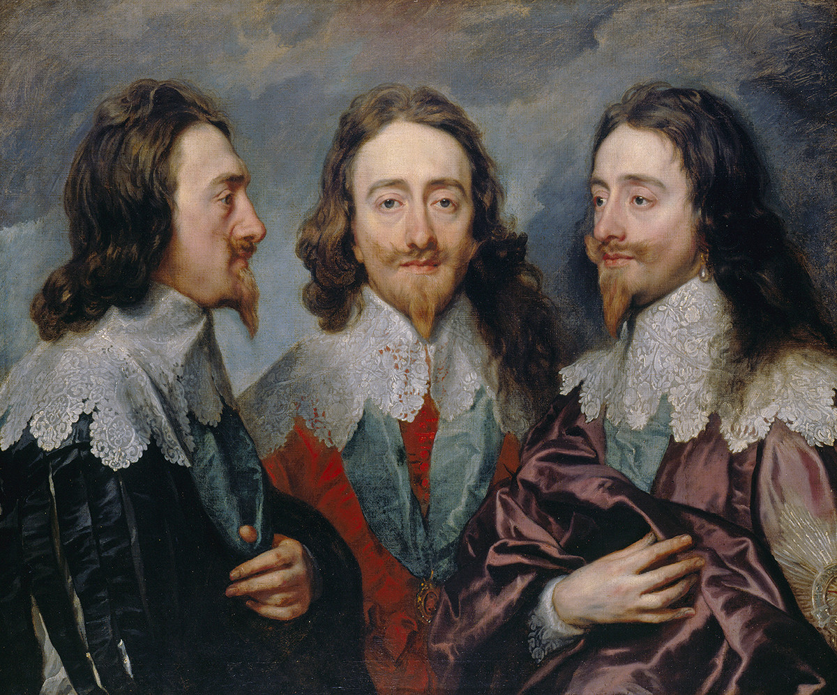 Anthony van Dyck, Charles I, 1635-6. Oil on canvas. 84.4 x 99.4 cm. RCIN 404420. Royal Collection Trust : © Her Majesty Queen Elizabeth II 2017., exhibitions in April