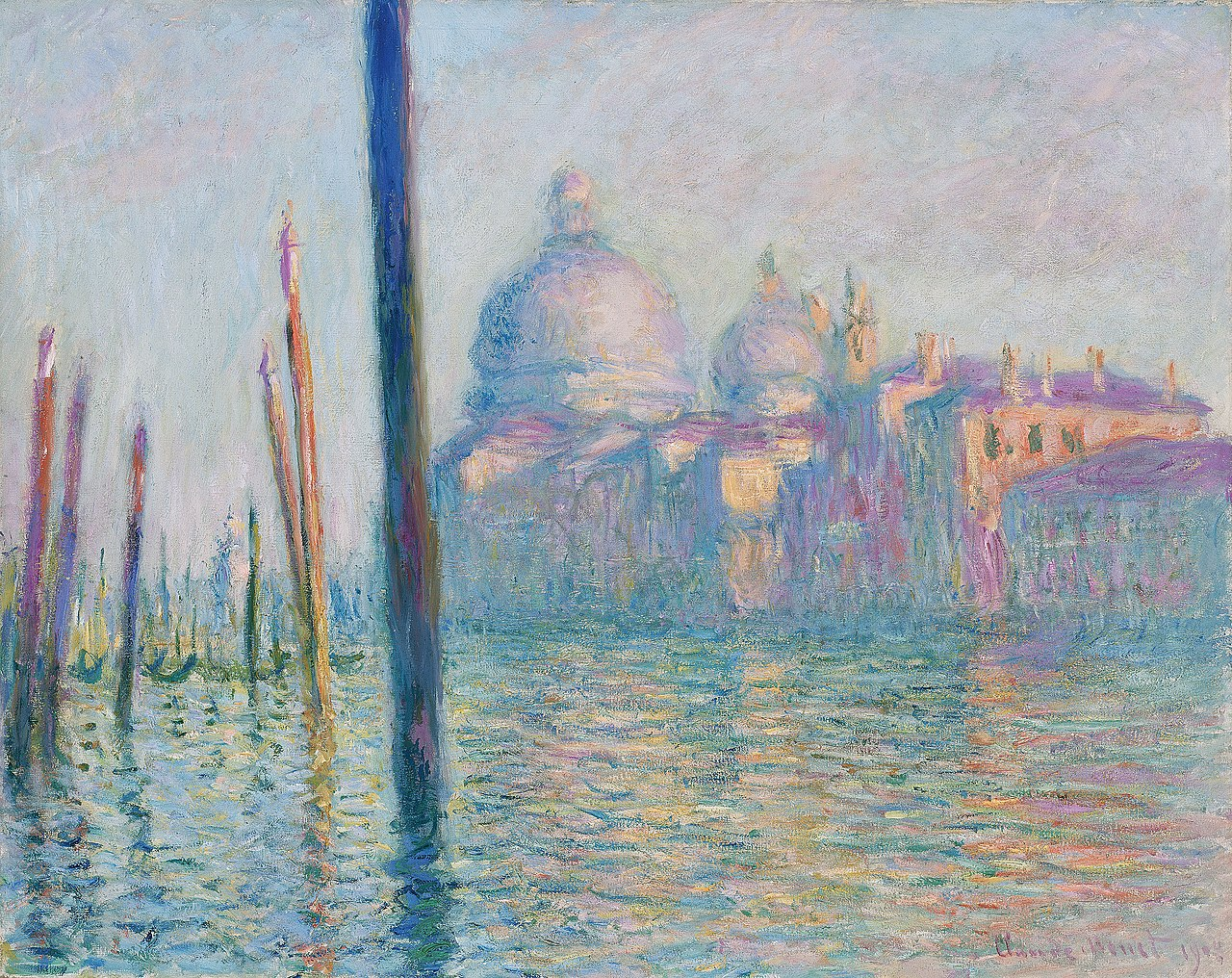 Claude Monet  (1840–1926), The Grand Canal , 1908, oil on canvas, 73.7 × 92.4 cm, Museum of Fine Arts Boston, exhibitions in April