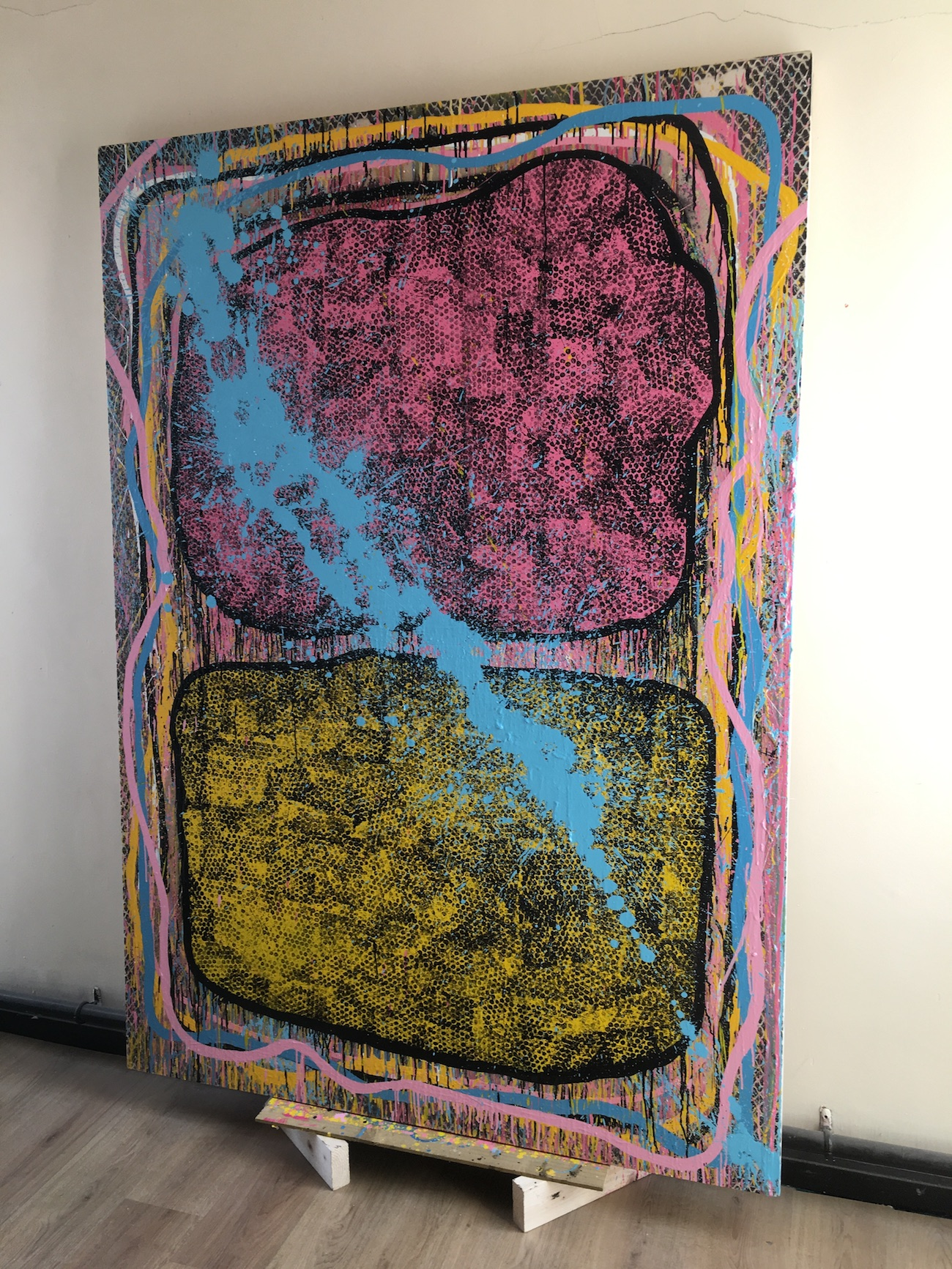 Spirit , Eóin Francis McCormack, Oil and Spray paint on Canvas, 230 x 150cm