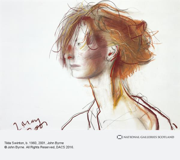 John Byrne (born 1940), Tilda Swinton, b.1960, 2001, Pastel on paper, 48.70 x 68.60 cm, Scottish National Portrait Gallery(On Display) © John Byrne. All Rights Reserved, DACS 2017, exhibitions in April