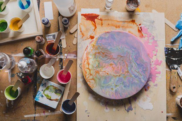 Preparing Circular Painting Panels