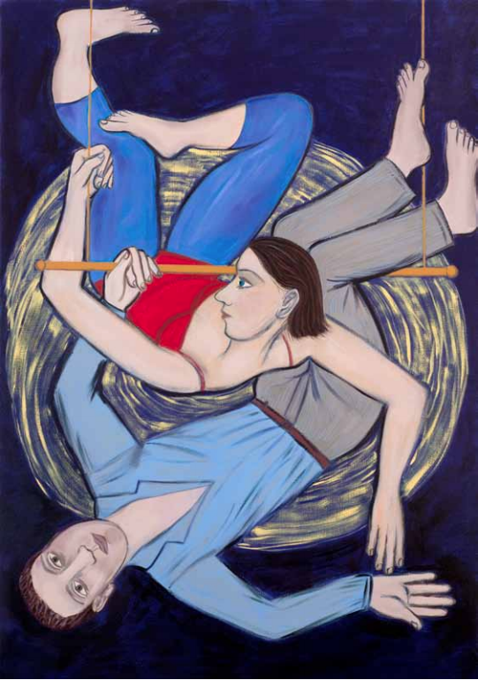 Eileen Cooper, Trapeze, 2012 oil on canvas, 153 x 107 cm, exhibitions in April