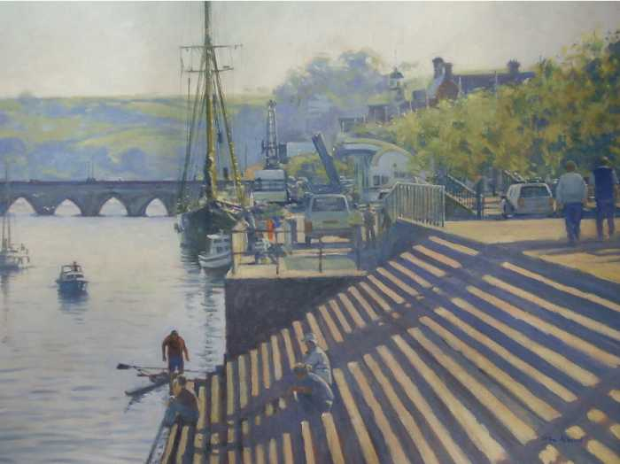 Sunny afternoon, Bideford (2008) Oil on canvas Size 24 x 36