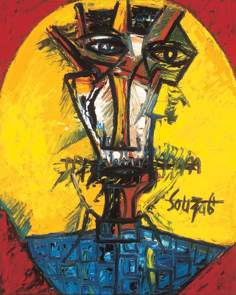 Francis Newton Souza, <em>Self Portrait</em>, 1961, Oil on board, 61cm x 76cm, exhibition mid April