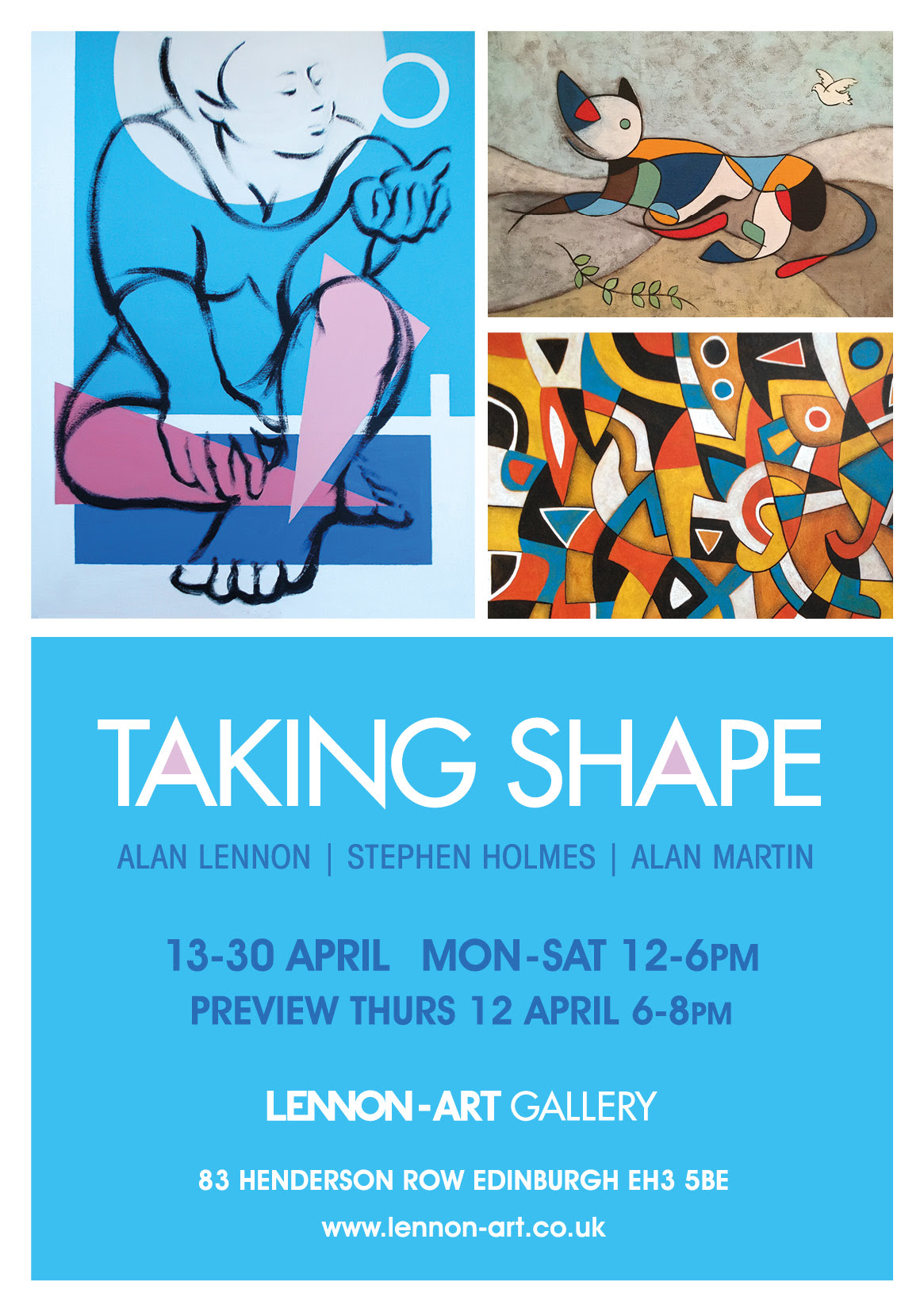 exhibition flyer, exhibitions end April