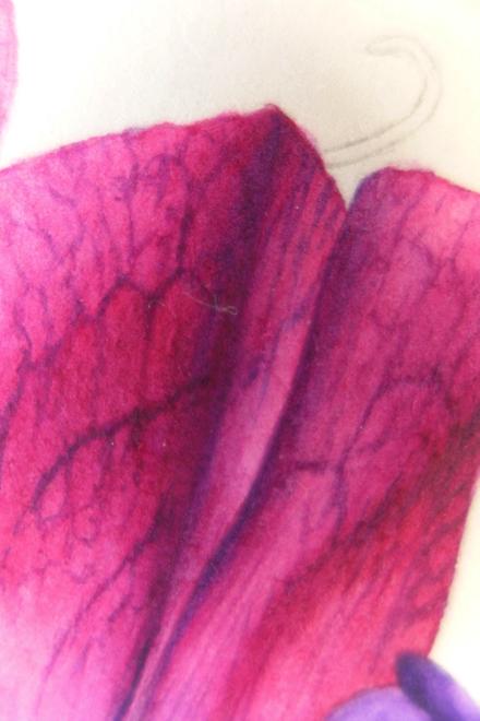 Christine Battle, detail of petal in progress