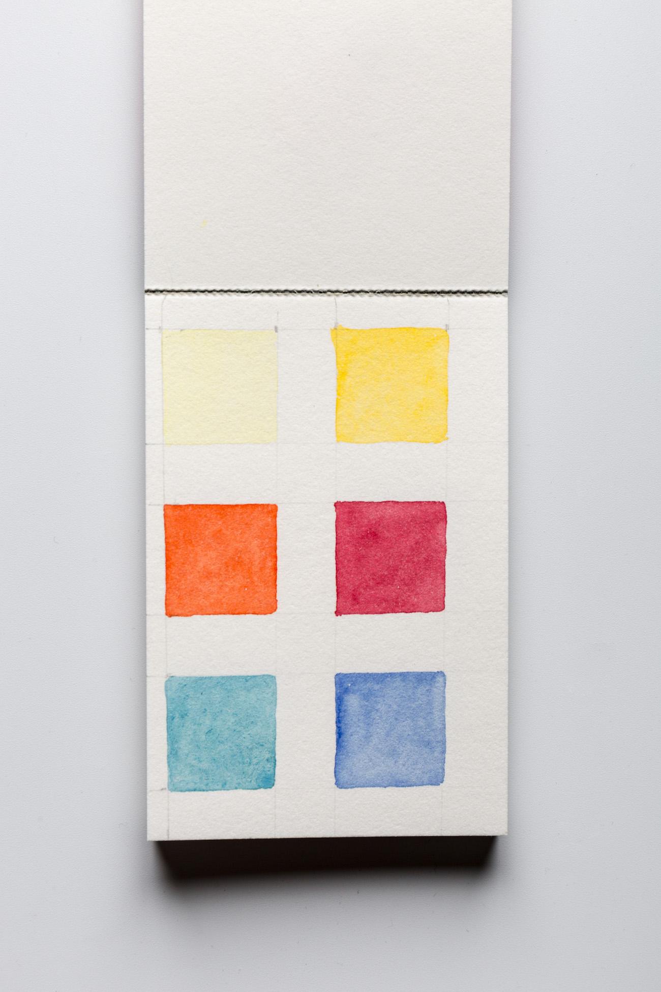 Margaret Fitzpatrick, even colour lay of Stonehenge Aqua Hotpress Sample