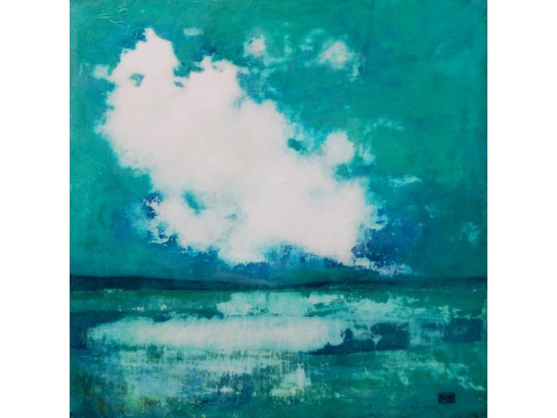 Morag Smith, Blinded by the Sun Acrylic (20 x 20cm plus frame)