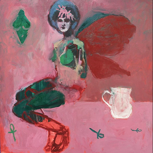 Rachel Glittenberg, I'm Not Afraid, I Was Born To Do This, 2018, 90 x 90 cm, oil on canvas, art exhibitions on now