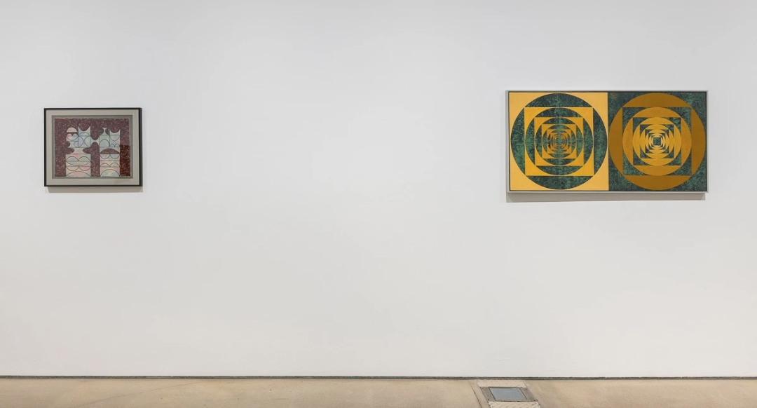 Installation shot of Anwar Jalal Shemza: Paintings from the 1960s