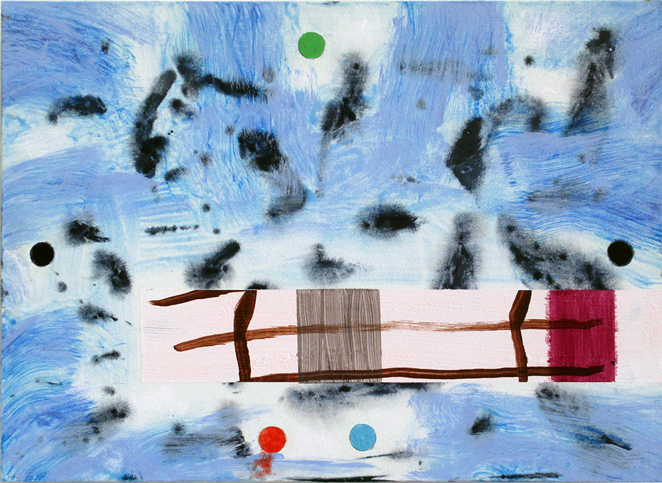 Jeff Dellow, Surge 2018 acrylic on panel 25.5x35.5cm, art exhibitions on now