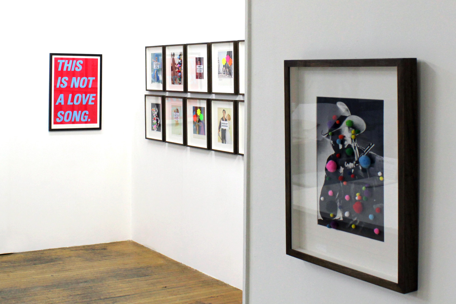 Installation shot of Too Much Too Young private view, art exhibitions on now