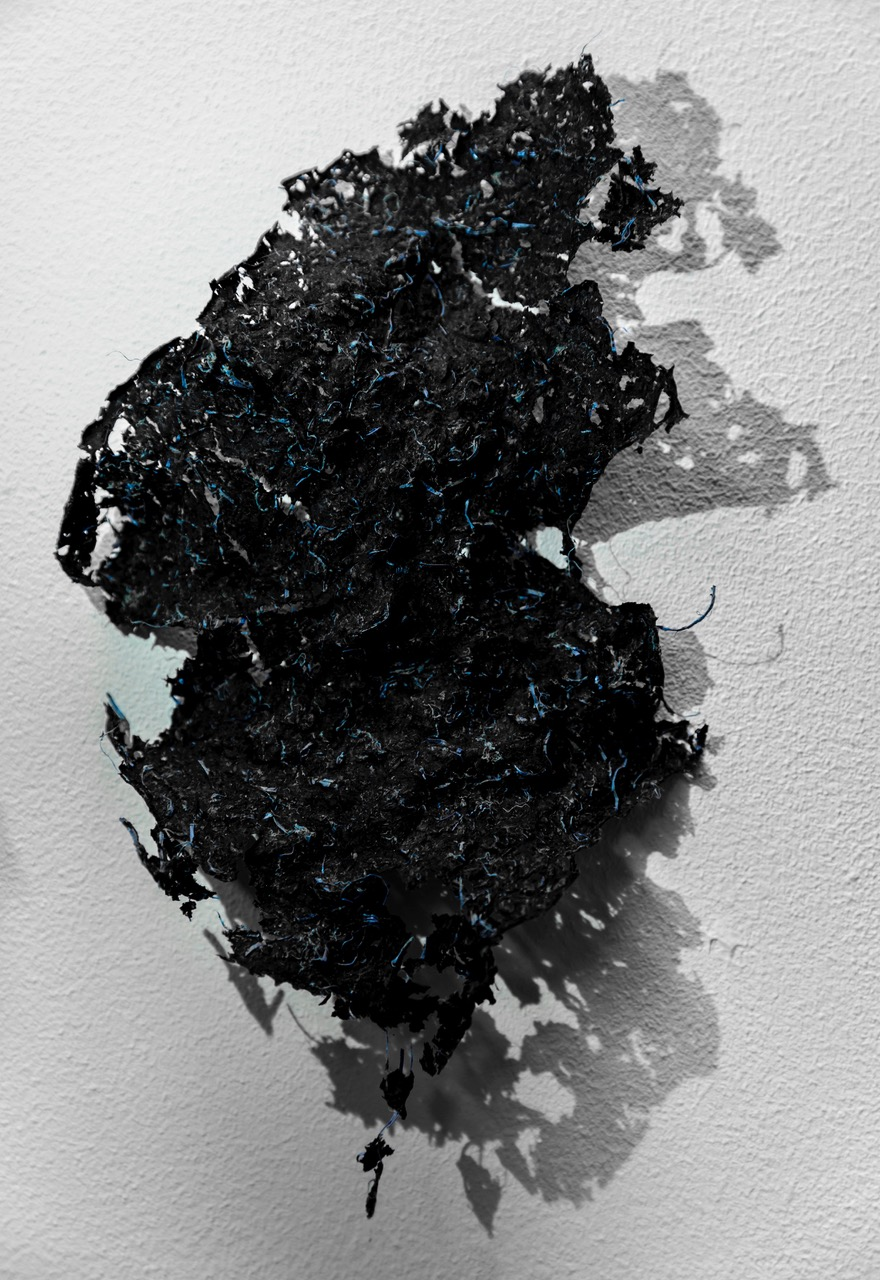 Jackie Smith, Seaweed paper sculpture, fragment 2018 Seaweed with plastic, 11cms Art Academy day at Newington 3rd year Diploma and Foundation Students, Art Academy, Newington, London, England, on 9th March 2018