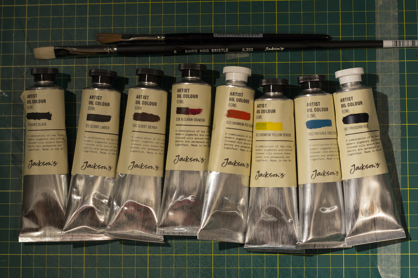 Jackson's Brushes and Artist Oil tubes