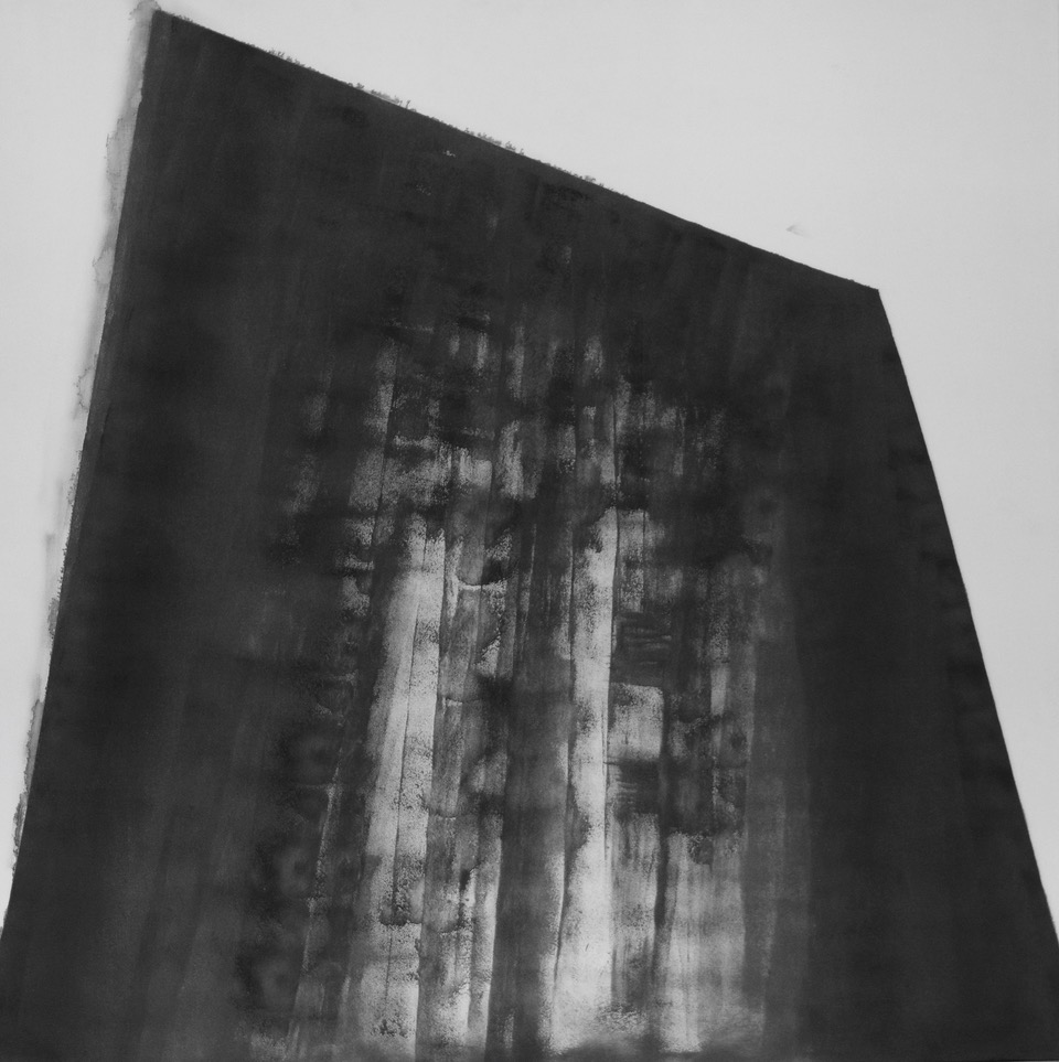 Terence Matthews,Monolith. 2018. Acrylic on canvas, 100 x 100 cm