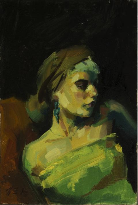 Thomas Golunski's portrait painted with Jackson's Artist Oils