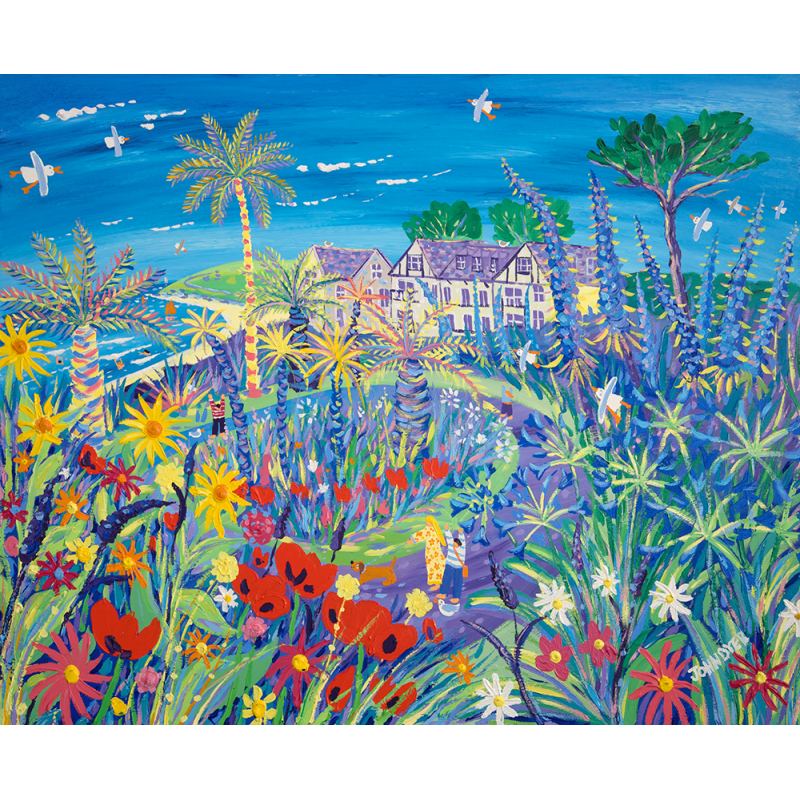 John Dyer, Painting a Wave of Summer Colour Gyllyngvase Beach Falmouth, art exhibitions to see in June