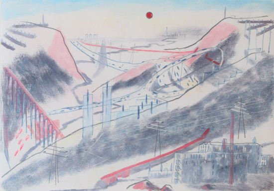 Helen Clapcott, Roundabout, oil and pencil on paper, 20.8 x 29.5 cm art exhibitions to see in July