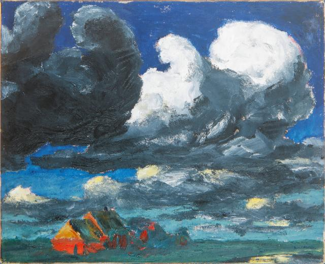 Emil Nolde, Landschaft Nordfriesland 1920, ©Nolde Stiftung Seebüll art exhibitions to see in July