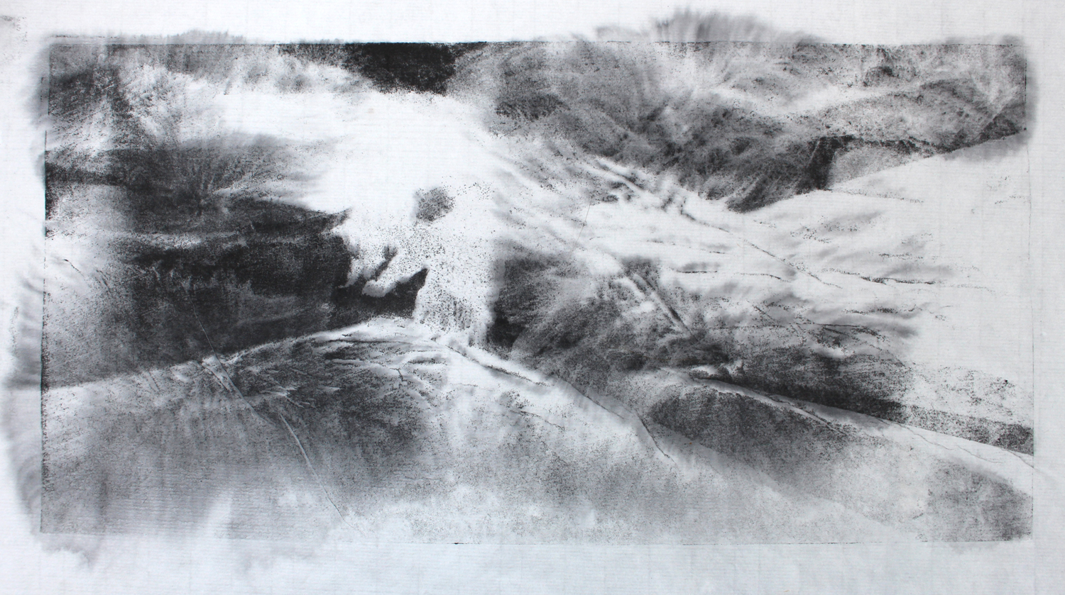 Molly Lemon, Water Landscape IV 2016 Pressure Print on Japanese Rice Paper, art exhibitions to see in July