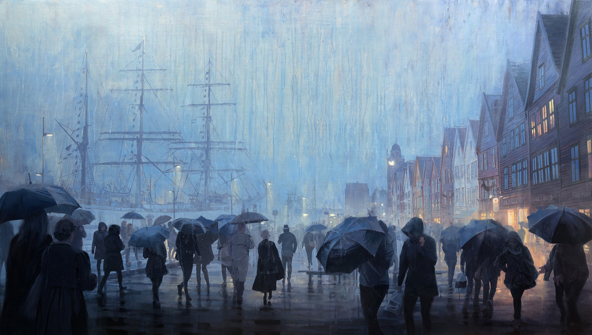 Soft Rain, oil on canvas,150 x 85 cm, 2015