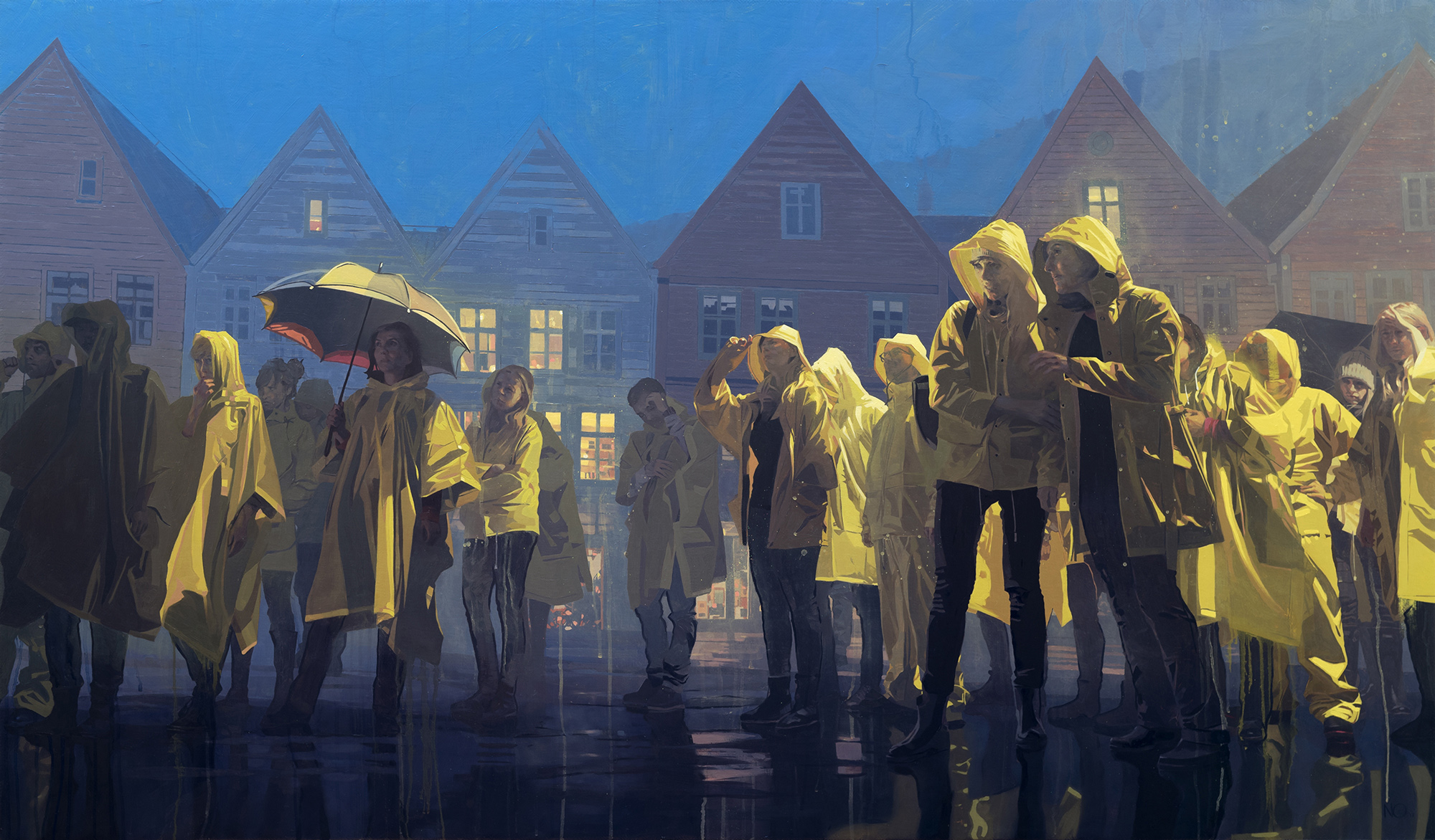Rain Homage, oil on canvas, 145 x 85cm, 2017