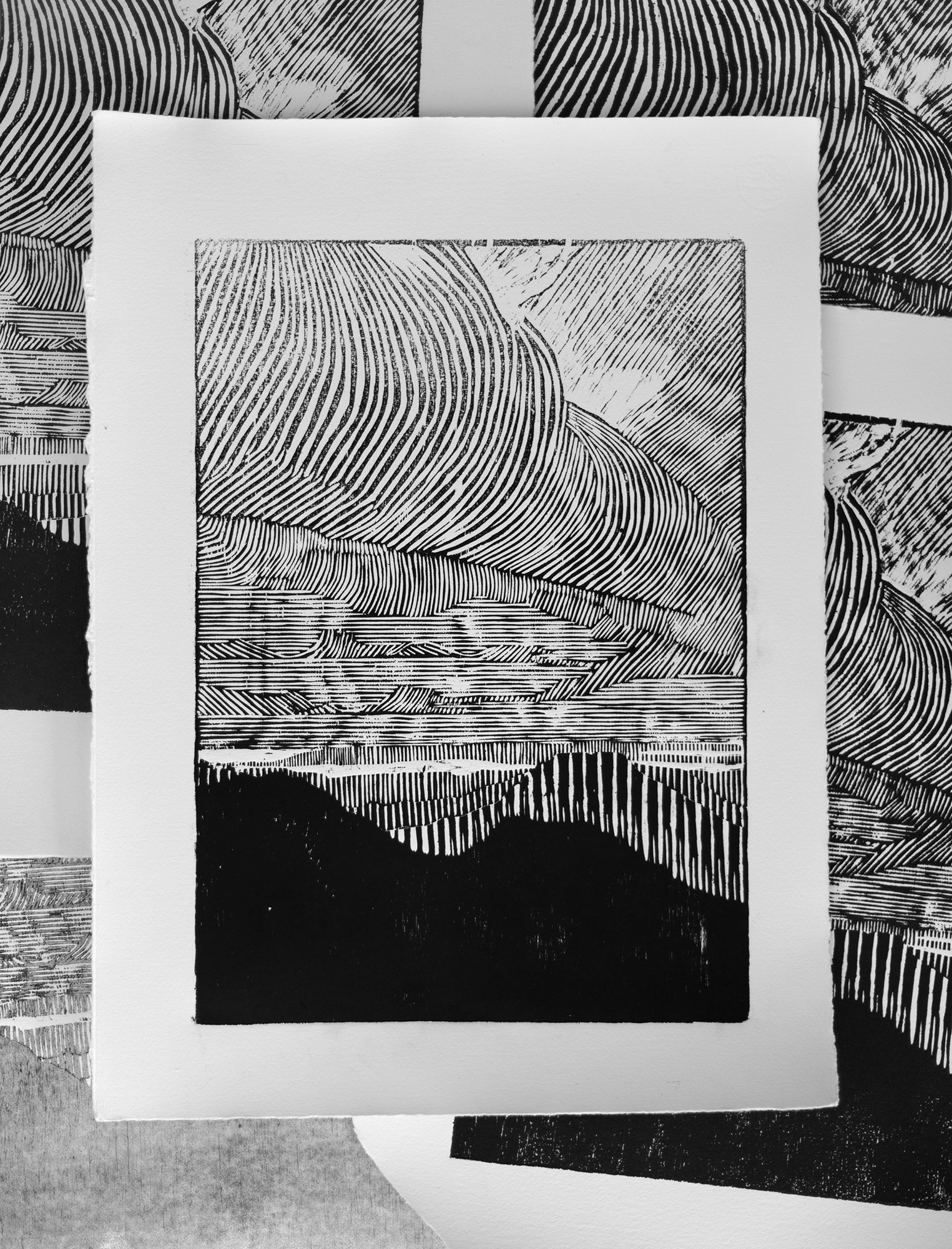 Blåmannen, woodcut print, 42 x 30 cm, 2017