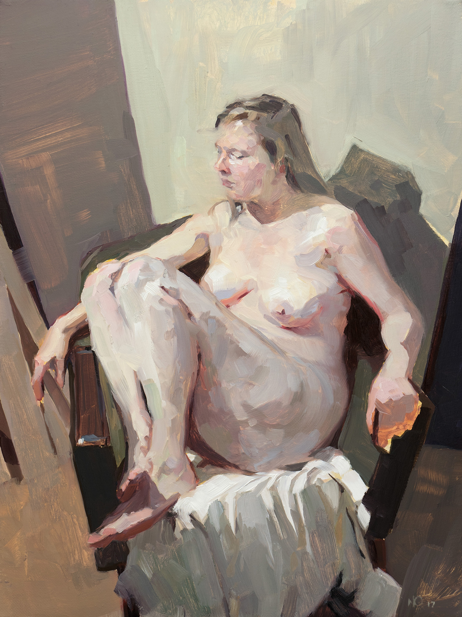 Sitting Study, oil on canvas, 40 x 30 cm, 2017