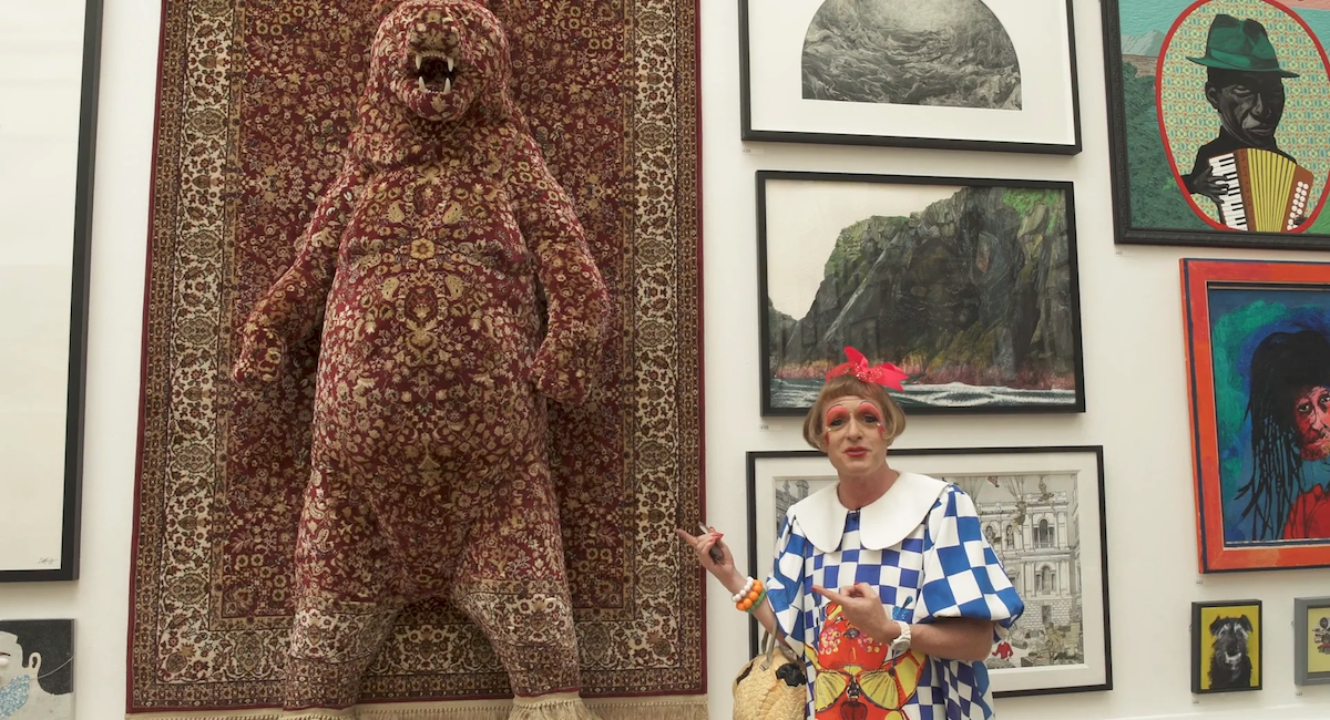 Shot of Grayson Perry from the video guide to 250th RA Summer Exhibition, art exhibitions to see in July