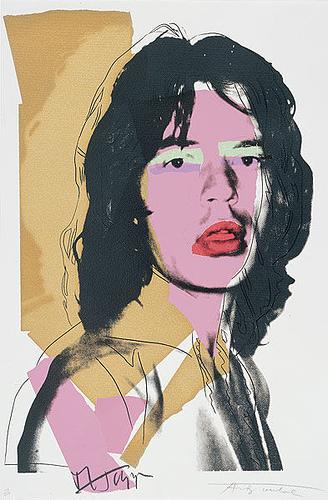 Andy Warhol - Mick Jagger, 1975, screen print