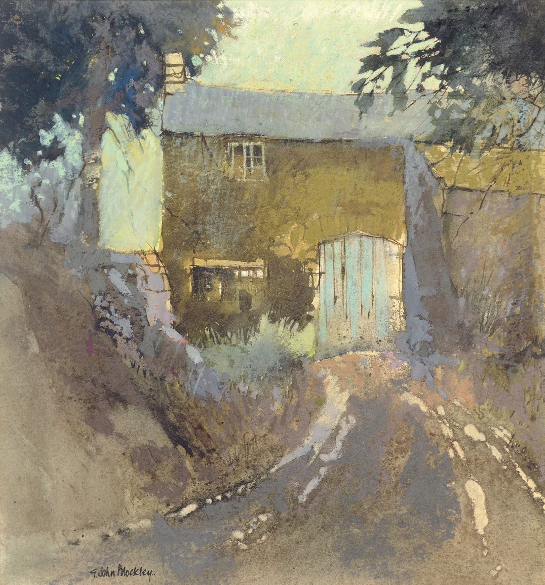 Barn G. John Blockley Pastel, c.1989