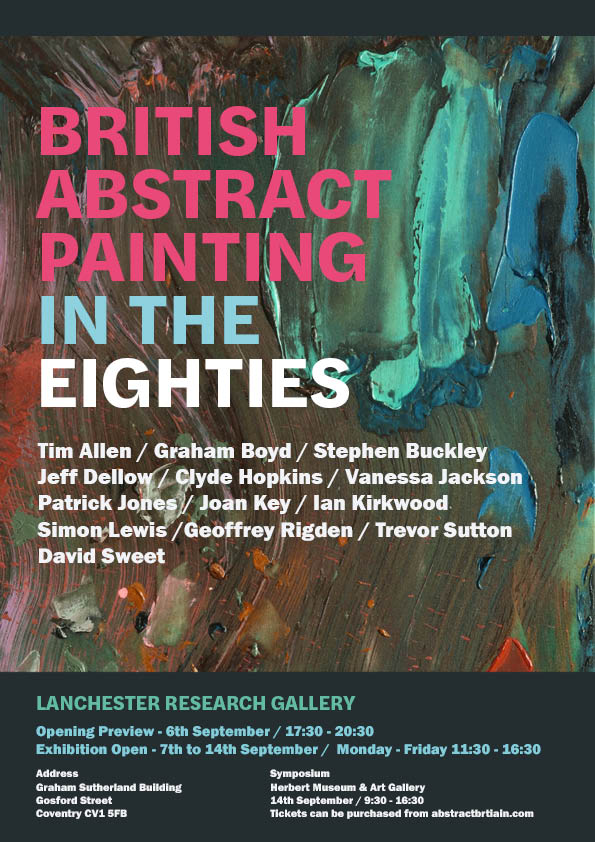 British Abstract Painting in the Eighties Exhibition, art exhibitions on in September