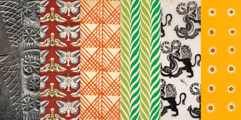 Composite image of different designs by Enid Marx, from the House of Illustration website, art exhibitions on in September