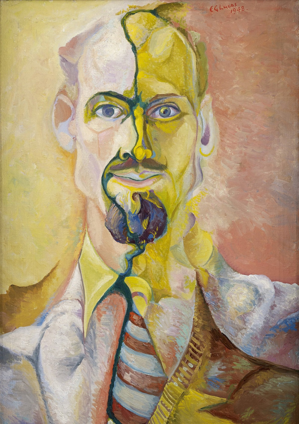 Edwin G. Lucas, Self-Portrait, 1948, Lucas Family Collection, copyright the artist's estate (Photo by John McKenzie), art exhibitions in August