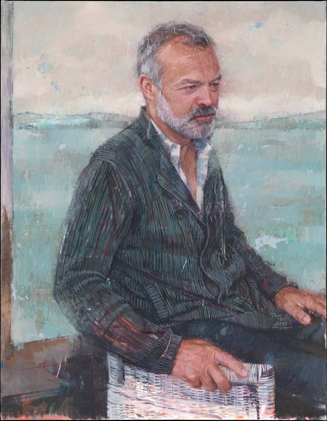 Graham Norton Gareth Reid Oil on Canvas, 105cm x 135cm, 2017 (Copyright National Gallery of Ireland)